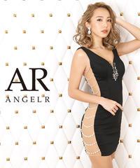 サイドパールビジューデザインタイトミニドレスAngelR(エンジェルアール)|AR20314