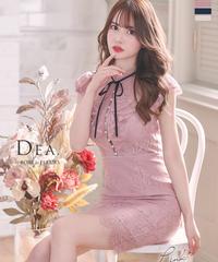 パール切り替え総レースタイトドレス(DE2415)