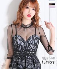 ダイヤチュール切替×ストレッチタイトミニドレス(GL2021)
