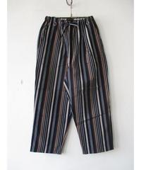 【30%Off】A Vontage(アボンタージ) Lax Easy Pants -Multi Stripe Cotton/Linen Typewriter-/コットンリネン イージーパンツ