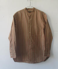 【SALE】2020SS. A Vontage(アボンタージ) Banded Collar Shirts -Cotton/Linen Chambray-/バンドカラーシャツ コットンリネン