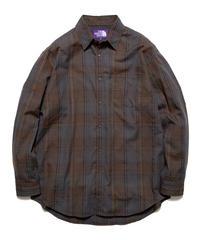 2020FW. THE NORTH FACE PURPLE LABEL Plaid Flannel Shirt/NT3055N ;パープルレーベル プレイド フランネルシャツ