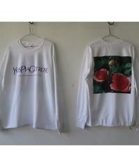 """""""SALE""""2020SS Niche.(ニッチ)Rose Long Sleeve T-Shirts/S20-Jac-02 -03 /ニッチ ローズ 薔薇 ロンT"""