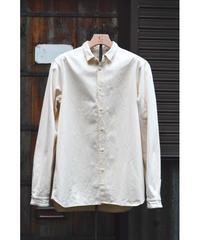 裏絹紬表綿高密度シャツ/  生成