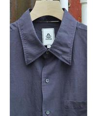 製品染めウールシルクシャツ / Purple