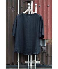 布帛半袖ボートネックTシャツ