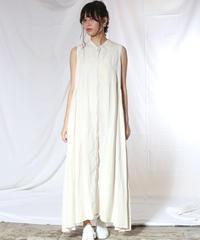 suzuki takayuk/sleeveless dress/nude/S201-21