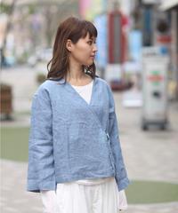 UNIVERSAL TISSU/リネンガーメントダイ ノットシャツ/UT200SH014