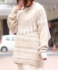 suzukitakayuki/hand-knitted pullover/A202-18