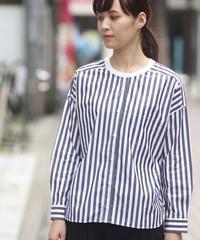 UNIVERSAL TISSU/ハーバーストライプワーキングシャツ/UT201SH040