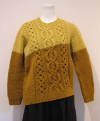 Botanic Green/asymmetry sweater(ZAKURO)