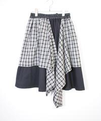 3tsui/2way check skirt( Black)