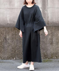 ANITYA/poncho tee dress(black)