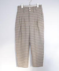 ASEEDONCLOUD/Formal Trousers(Mogamibana check・off white)