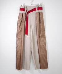 rikolekt/CONTRAST WRAP PANTS(beige)