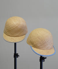 mitake/Raffia cap(light blue/beige)