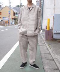 ASEEDONCLOUD/formal shirt(Mogamibana check・off white)