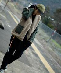 vast222/NO COLLAR jacket(charcoal)