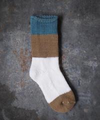 ASEEDONCLOUD/ mogamibana socks (blue・M)