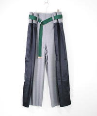 rikolekt/CONTRAST WRAP PANTS(green)
