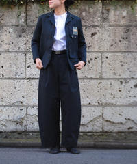 ASEEDONCLOUD  Handwerker/ wide trousers (備前壱号・charcoal)