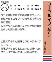 コーラルマウンテン   (コスタリカ産) (豆) 200g