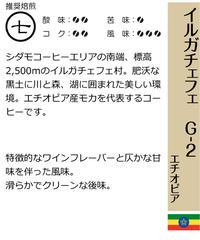 イルガチェフェ G-2   (エチオピア産) (粉) 200g