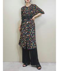 TERUYOS block pattern rétro dress-1967-6