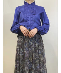 Tokyo-blouse Feminine purple shirt-1349-9