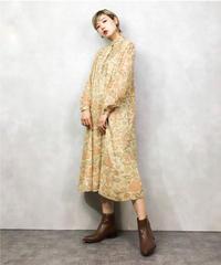 TOKYONEWSTAR flower beige dress-1007-3