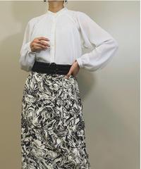 Sagano lace neck see-through shirt-1165-6
