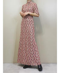 Cherry blossoms embroidery vintage dress-1786-3