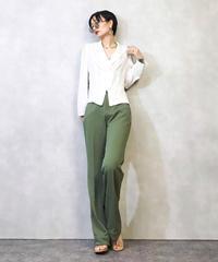 White rose tailored collar shirt-963-3