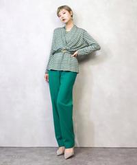 Para Jeena green rétro tops-899-2