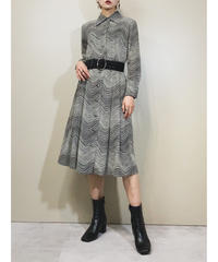 Hanasaki wave pattern rétro dress-1688-2