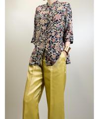 JAPAN NAKAJO exotic flower silk shirt-1926-6