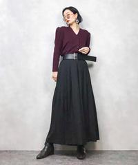Toyoko Saito puff sleeve knit cardigan-853-1