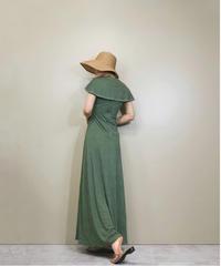 Green dot  sailor collar rétro dress-1236-6