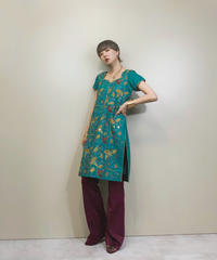 Mirror embroidery pattern vintage tunic-1304-8
