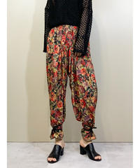 vintage flower design balloon  pants-1896-5