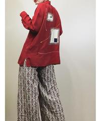 JORG PETERSON wine red shirt-1131-5