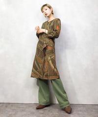 SCAPA brown paisley pattern dress-1000-3