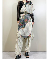 Ethnic design import traditional scarf set pants-1899-5