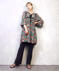 Flower garden embroidery  tunic-959-3