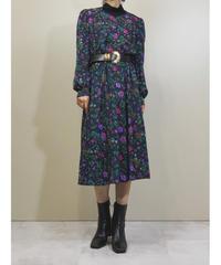 Bell&shan botanical design puff sleeve dress-1438-10