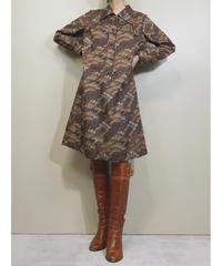 Nostalgie design brown color rétro dress-1722-3