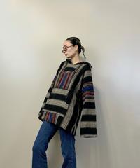Multi stripe mexican hoodie-2239-10