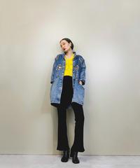 Pret gold decoration import denim jacket-1442-10