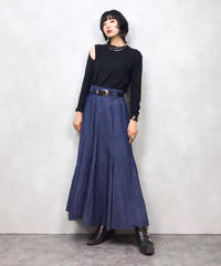 CircieT BY MARILYN LENOX denim long skirt-535-9