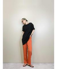 Orange color relax straight pants-1884-5